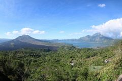 Batur mountain view Royalty Free Stock Photos