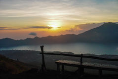Batur Sunrise Royalty Free Stock Images