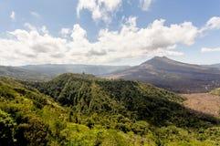 Batur volcano and Agung mountain, Bali Royalty Free Stock Photo