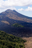 Batur volcano and Agung mountain, Bali Royalty Free Stock Image