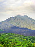 Batur volcano on Bali island Stock Photos