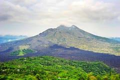 Batur volcano on Bali Stock Photography