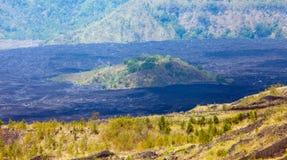 Batur Volcano in Indonesia, Bali Stock Photo