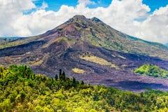 Batur volcano in Kintamani Bangli area Bali, Indonesia Royalty Free Stock Image