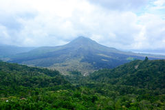 Batur volcano view from Kintamani, Bali, Indonesia Royalty Free Stock Images