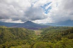 Batur vulkan, Bali ö, Indonesien Royaltyfri Fotografi