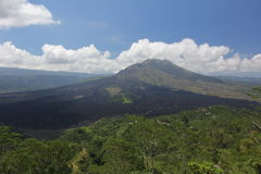 Batur vulkan i Bali, Indonesien Arkivfoto