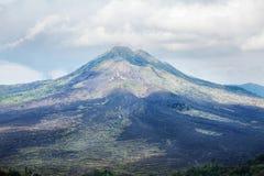 Batur vulkanpanoramautsikt Arkivbild