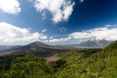Batur wulkan i Agung góra, Bali Zdjęcia Royalty Free