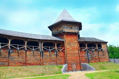 Baturyn Citadel. Ancient Slavonic architecture of fortress. Baturyn Citadel the Cossack Hetmanate. Ancient Slavonic architecture of Baturyn fortress in hetman Stock Photography