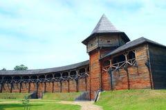 Baturyn-Zitadelle Alte slawische Architektur der Festung lizenzfreies stockbild