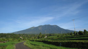 batusangkar印度尼西亚marapi挂接西方的苏门答腊 库存图片