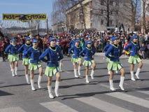 Batut twirlers w wiosny paradzie zdjęcia royalty free