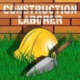 Bau-Arbeiter stellt Illustration des Bauarbeiter-3d dar vektor abbildung