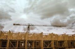 Bau auf Neubau Stockfotos