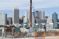 Bau am Brooklyn-Brücken-Park Stockfotografie
