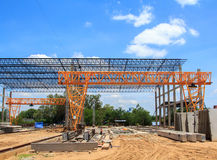 Bau der Anlage Lizenzfreies Stockbild