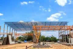Bau der Anlage Stockfotos