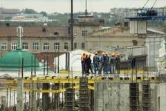 Bau der Büromitte Stockfotografie