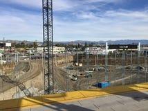 Bau an der Culver-Stadt-Ausstellungs-Station lizenzfreies stockfoto