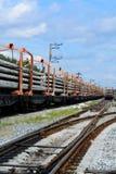 Bau der Eisenbahn Stockfotos