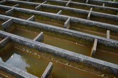 Bau der Entwässerungswasserfiltration Stockbild