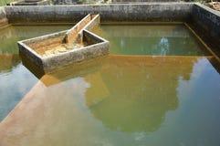 Bau der Entwässerungswasserfiltration Stockfoto