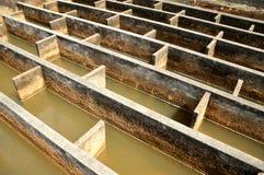 Bau der Entwässerungswasserfiltration Stockfotografie