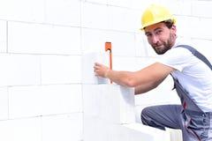 Bau der Handwerker zu Hause - Maurer, die in Arbeit Clo arbeiten stockfotos