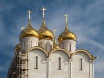 Bau der orthodoxen Kirche Stockfoto