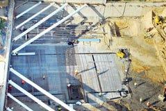 Bau der Primärgrundlage, Leute bei der Arbeit Lizenzfreies Stockbild
