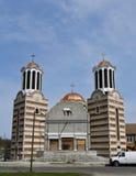 Bau der rumänischen orthodoxen Kirche Lizenzfreie Stockfotografie