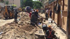 Bau der U-Bahn-Linie Rio de Janeiro Linha 4 stock footage