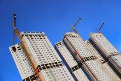 Bau der Wohngebäude Stockbild