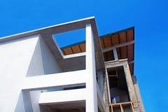 Bau der Wohnung in einem Vorort Stockfotografie