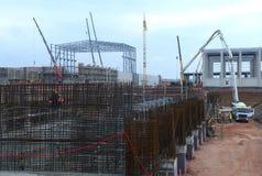 Bau des Gebäudes in Sofia, Bulgarien am 24. November 2014 Lizenzfreie Stockbilder