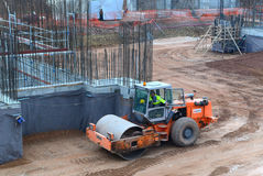 Bau des Gebäudes in Sofia, Bulgarien am 24. November 2014 Lizenzfreies Stockbild