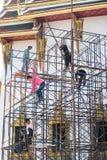 Bau des großartigen Palastes in Bangkok, Thailand Stockbilder