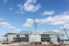 Bau des großartigen stade in Lyon, Frankreich Lizenzfreies Stockfoto