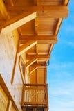 Bau des hölzernen Hauses Stockbild