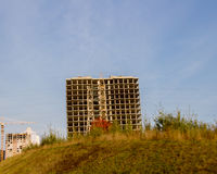 Bau des hoch gelegenen Hauses Lizenzfreie Stockfotografie