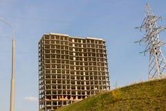Bau des hoch gelegenen Hauses Lizenzfreies Stockfoto