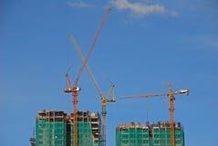 Bau des hohen Aufstiegs-Gebäudes Stockfotos