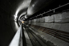 Bau des Metro-Tunnels Lizenzfreie Stockfotografie