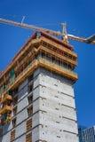 Bau des modernen konkreten Gebäudes Lizenzfreie Stockfotografie
