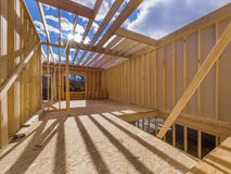 Bau des neuen Hauses Stockbild