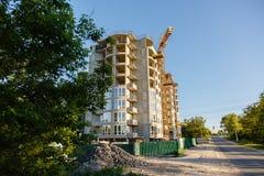 Bau des neuen Hauses oder des Gebäudes Lizenzfreie Stockfotografie