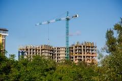 Bau des neuen Hauses oder des Gebäudes Stockfoto