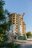 Bau des neuen Hauses oder des Gebäudes Stockbilder