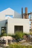 Bau des neuen weißen Backsteinhauses Lizenzfreie Stockbilder